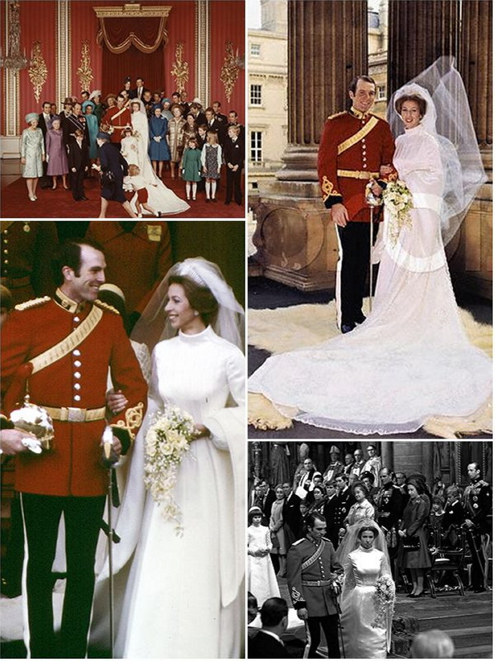 A royal wedding history princesses margaret anne and for Princess anne wedding dress